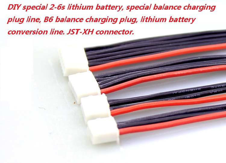 10Pcs/lot 2s 3s 4s 5s 6s LiPo Battery Balance Charger Plug Line/Wire/Connector 22AWG 100mm JST-XH Balancer cable image