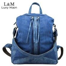 Luxy Moon рюкзак холст и искусственная кожа Школьная Сумка подростковая Обувь для девочек Европейский Стиль Рюкзаки большой Ёмкость Сумки Mochila XA1064H