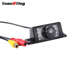 YuanTing универсальная 12-24 В ИК ночного видения Водонепроницаемая HD CMOS автомобильная камера заднего вида авто резервная парковочная камера для монитора радио