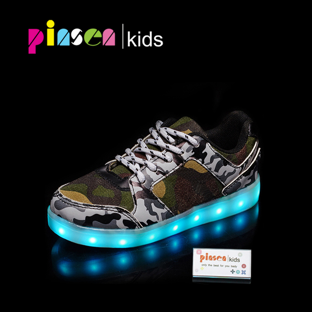 0b948bc3f6e4 Boys girls led luminous shoes Colorful glowing sneakers children shoes  light up shoes with new simulation sole sneaker for kdis