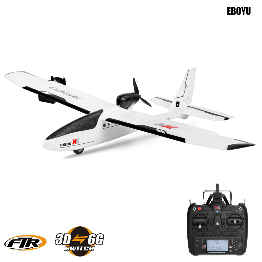 WLtoysXK A1200 3D6G Brushless Motor Fixed-wing Airplane 5.8G FPV 2.4G 6CH S-FHSS EPO RC Airplane Glider RTF min1220 r c airplane glider motor 3 pcs