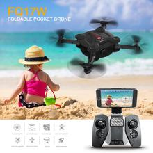 FQ777 FQ17W Foldable Pocket Drone WiFi FPV 0.3MP Camera With High Hold Model 2.4G RC Quadcopter VS Eachine E55 F20374