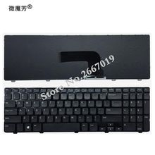 Новинка Клавиатура для ноутбука DELL Inspiron 15 3521 15R 5521 черный английский ноутбук клавиатура с каркасом для ноутбука