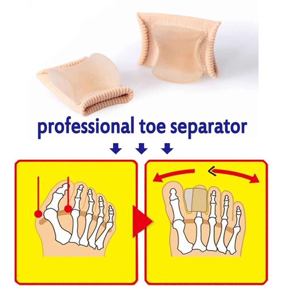1Pcs Grande Protezione della Punta Separatore Silicone Alluce Valgo Corrector Bone Pollice Raddrizzatore Alluce Valgo Barelle Strumenti di Cura Del Piede