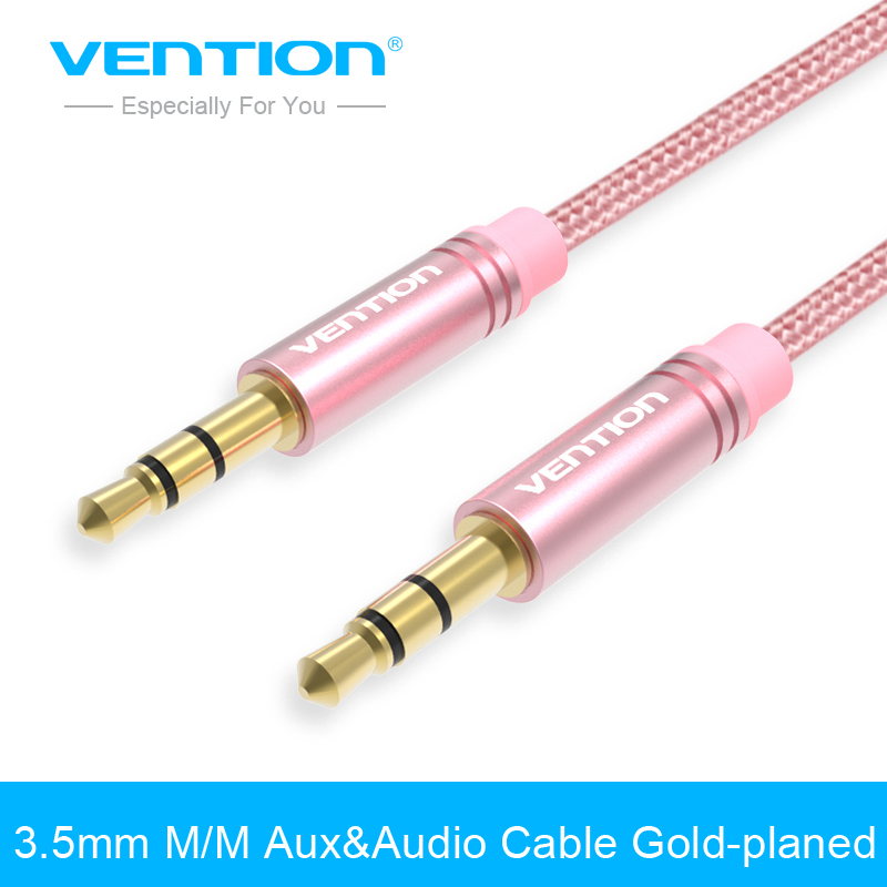 Vention 3.5mm to 3.5mm Jack AUX&Audio Cable Gold-plated Male to Male Stereo Auxiliary Cord for Phone Car Speaker Headphone