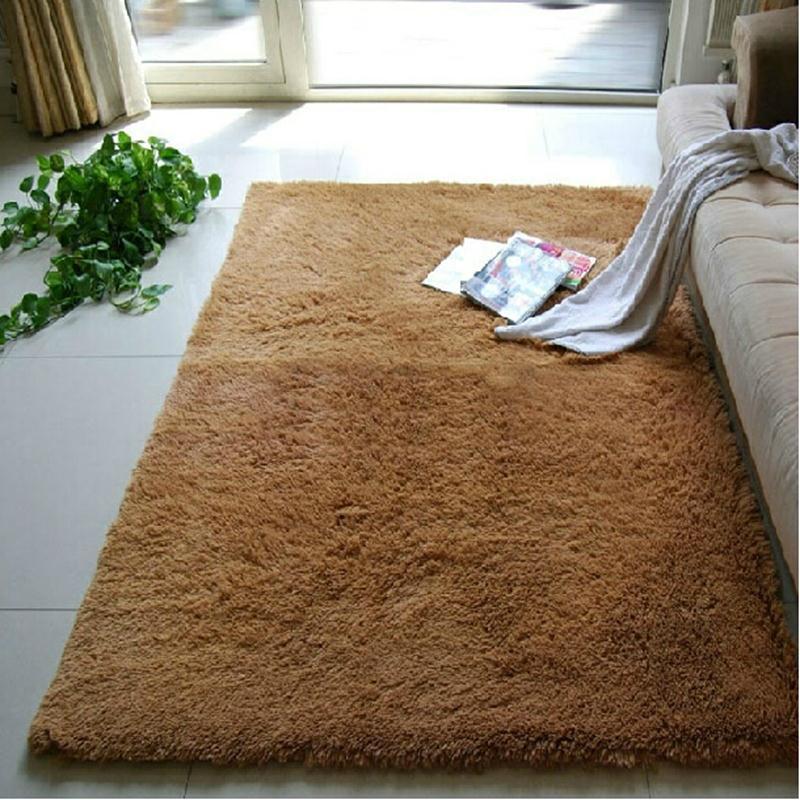 80200cm large plush shaggy soft carpet bed area rugs slip resistant floor mats for