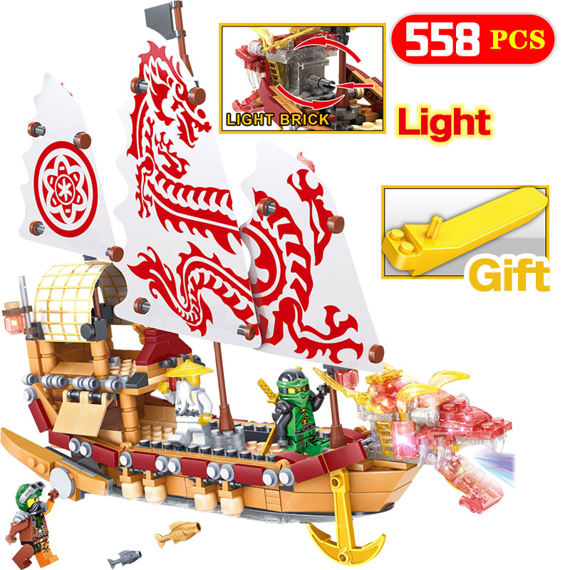 New Edition Ninjagoes Movie Boat Model Building Compatible legoINGLYS Ship Jay Master WU Bricks Blocks Toys For Children Gifts 2018 hot ninjago building blocks toys compatible legoingly ninja master wu nya mini bricks figures for kids gifts free shipping