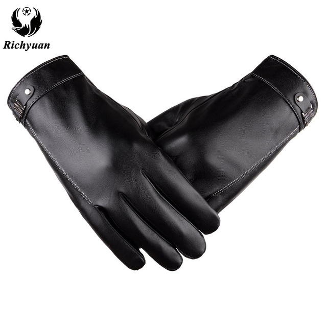 1022093cf2b01 Better Warm Winter Mens Gloves Faux Suede Leather Black Leather Gloves Male Winter  Gloves Men Fashion
