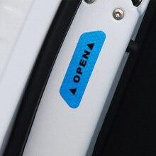 4 צבעים 4 Pcs דלת בטיחות רעיוני אזהרת מדבקות לרכב DIY סימן בטיחות אוטומטי דקור לילה תאורה זוהר קלטות רכב  סטיילינג
