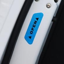 4 farben 4 Pcs Tür Sicherheit Reflektierende Warnung Aufkleber Auto DIY Sicherheit Mark Auto Decor Nacht Beleuchtung Leucht Bänder Auto  styling
