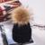 Piel de Visón Casquillo de la Bola de Pom Poms Winter Hat para la Mujer Chica Lana de Sombrero de Punto Gorros Cotton Cap Estrenar Grueso Hembra Cap