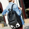 Personality Fashion High Quality PU Leather Cute Fox Women Female Backpack school bags for teenagers Girls Students Schoolbag