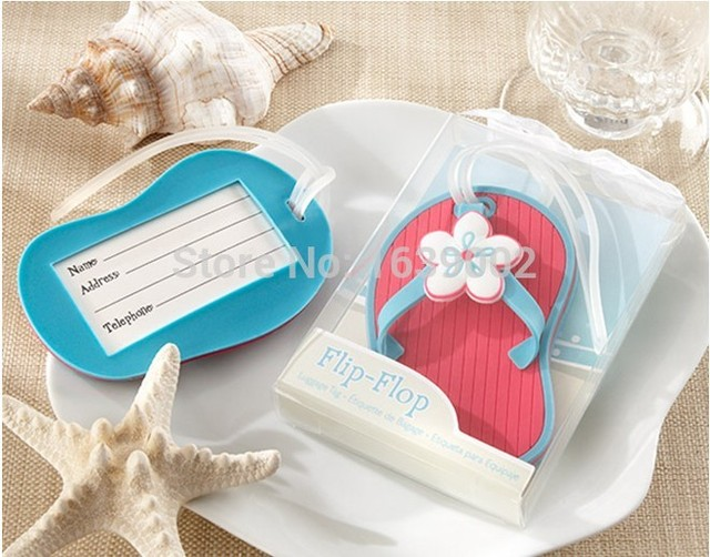 20pcs Very Cheap Flip Flop Luggage Tag favors wedding return gifts ...