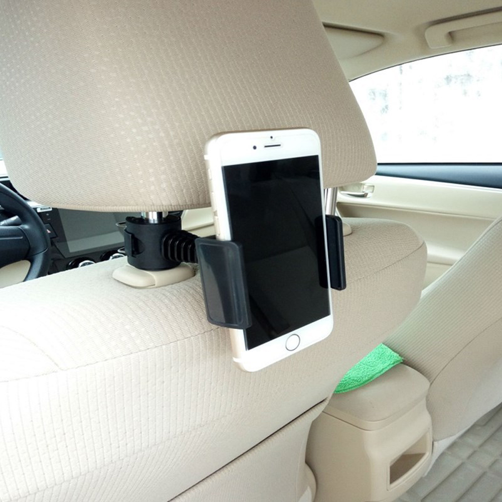 Car Phone Holder 360 Degree Rotating Back Seat Headrest Universal Car Phone Clip Holder For iPhone X Samsung in Phone Holders Stands from Cellphones Telecommunications