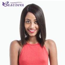 BEAUDIVA Human Hair Wigs Brazilian Virgin Hair Lace Wigs for Black Women 12inch Short Bob Wigs Free Shipping