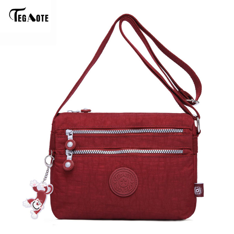 TEGAOTE Fashion Women Shoulder Bag 2017 New Casual Nylon Bag Shoulder Messenger Multilayer Bags Women Bag Bolsos sac a main m085 brand design female bag girls handbag bolsos mujer high quality nylon bag shoulder bag women messenger bags sac a main new