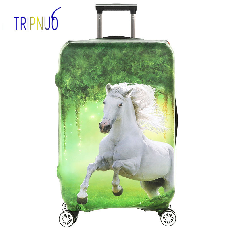 TRIPNUO Horse Thickest Elastic Luggage Protective Cover Zipper Suit For 18-32 Inch Trunk Case Travel Suitcase Covers Bags