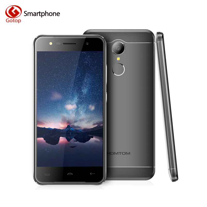 bilder für Original Homtom HT37 MT6580 Quad-Core-Handy 5,0 Zoll Smartphone Android 6.0 2 GB RAM 16 GB ROM Fingerprint ID 3G Handy