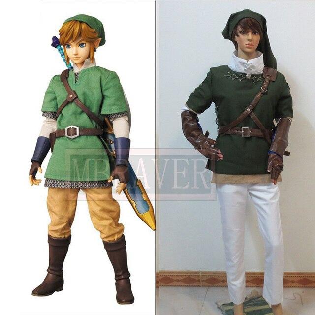 57d25296c Anime The Legend of Zelda Zelda Link Cosplay Costume Fighting Uniform Full  Set