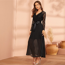 Elegant High Waist V-Neck Party Dress for Women
