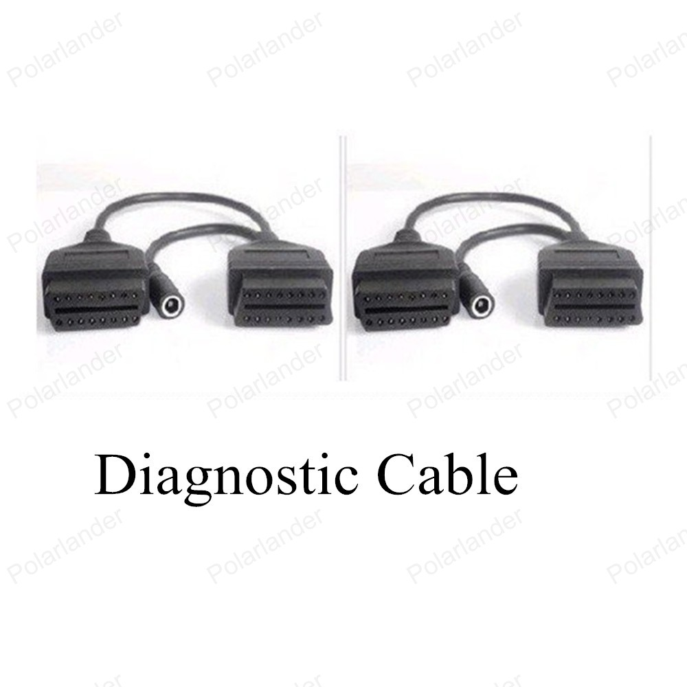 High Quality Wholesale 16pin to 12pin <font><b>OBD</b></font> Interface For Mitsubishi Car <font><b>Scanner</b></font> Cable Diagnostic <font><b>Scanner</b></font> Cable Free Shipping image