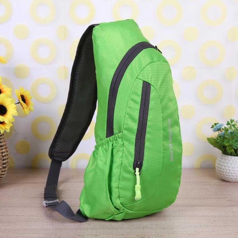Waterproof Nylon Chest Bag Men Women Portable Running Shoulder Bag Diagonal Package Cycling Running Hiking Sports Bags Mochila