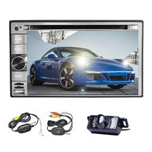 Wireless Camera included 2 din car stereo bluetooth car DVD CD player 6.2″ touch screen AM FM RADIO USB SD mp3 car monitor