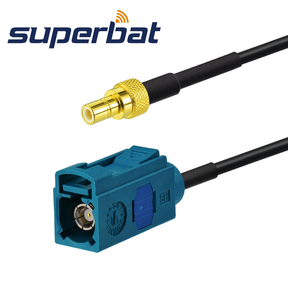 Superbat DAB/DAB+ Car Radio Aerial Fakra Female Jack To SMB Male Plug Adapter Cable For Pure Highway 300Di
