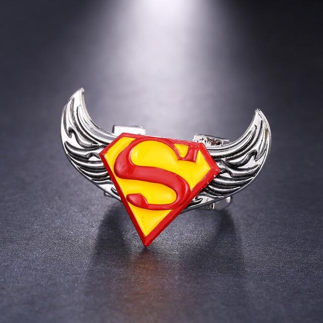 J Store Super Man Superman S Logo Rotatable Rings For Women Angel