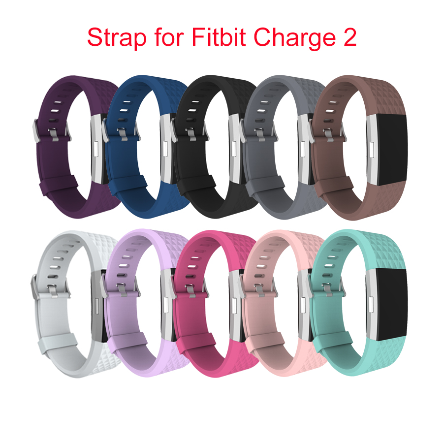 wholesale diamond silicone watchbands for fitbit charge 2. Black Bedroom Furniture Sets. Home Design Ideas