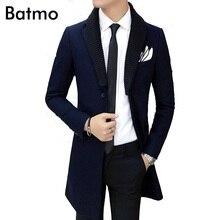 2017 высокое качество шерсти тощий траншеи Мужчины однобортный Траншеи Пальто Мужчины Верхняя Одежда Повседневная мужская Куртка Ветровка(China (Mainland))