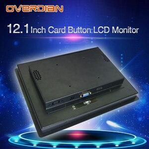 Image 5 - 12インチ液晶モニター抵抗タッチ産業用制御vga/dvi/usbコネクタ金属シェルカードバックルタイプのインストール