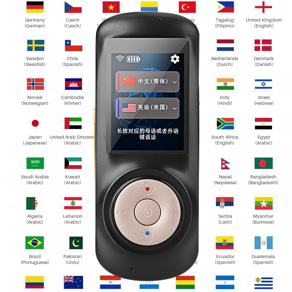 Smart Portable Instant Voice Translator Support 70 Countries Language  Two-way Translation Multi-Language Translator Voice