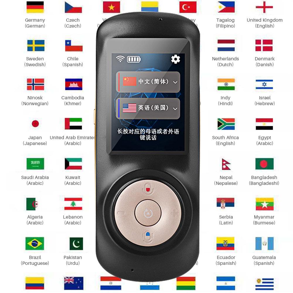 Traducteur vocal instantané Portable intelligent prend en charge 70 pays langue traduction bidirectionnelle traducteur multilingue voix