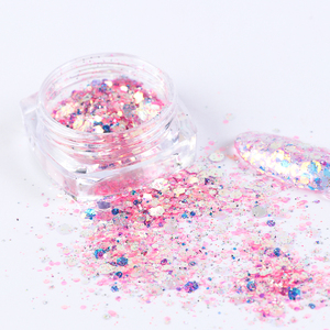 Image 5 - 1Set Holographic Nail Glitter Set Powder Nail Art Pigment DIY Flake Nail Art Decorations Dust Gel Manicure Pigment CH1506 08