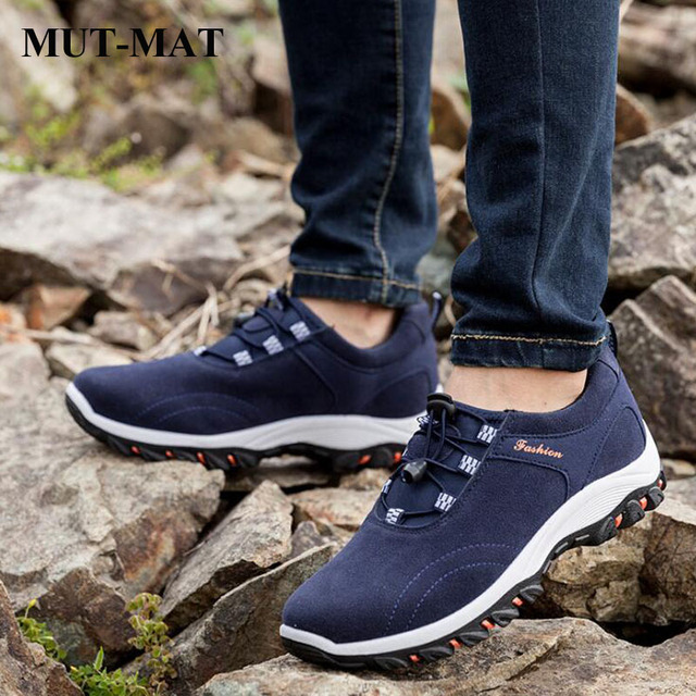 Spring New Fashion Quality Leather Man Shoes Adult Outdoor Hiking Sneakers Male's Waterproof Casual Sports Walking shoes