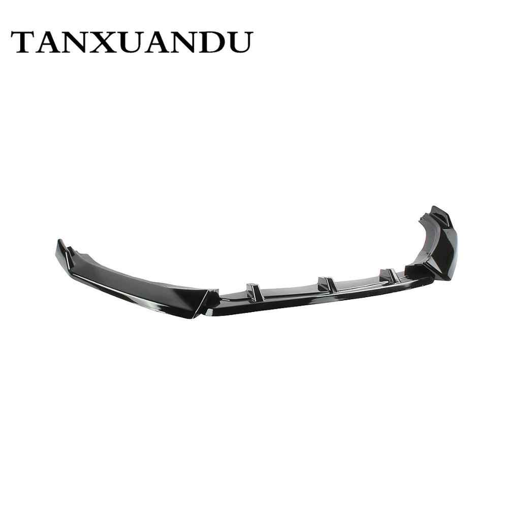 Painted Gloss Black 3-Stage Front Bumper Lip Spoiler Underbody Wing ZT Sport Type Fit For VW Jetta MK7 2019-2021 Don't For Gli