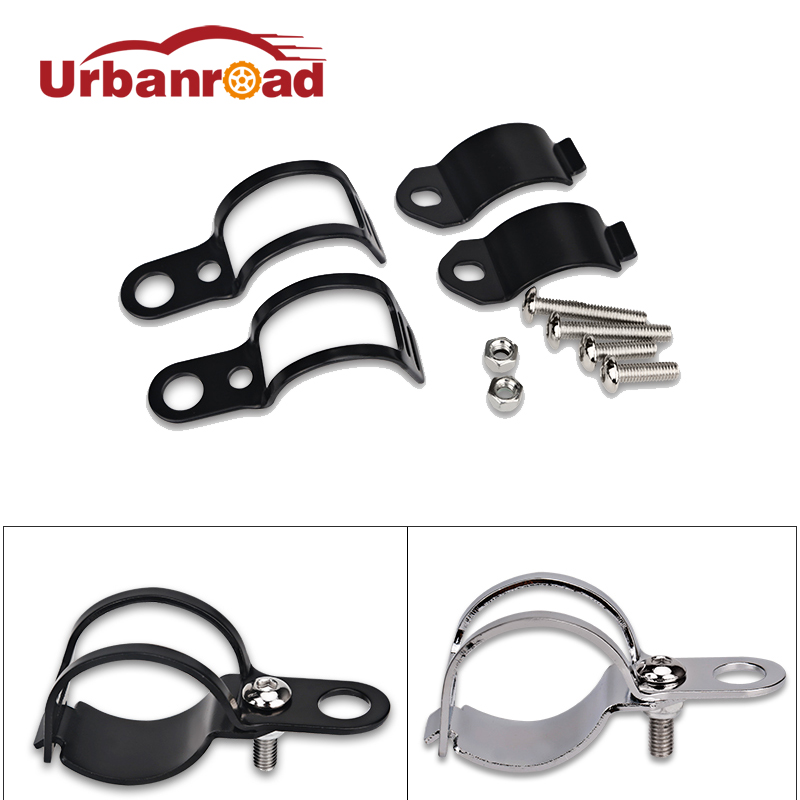 2pcs/Pair Motorcycle Turn Signal Mount Bracket Relocation Mount Fork Clamps Holder  For 30MM-45MM Turn Signal Black Silver Motor