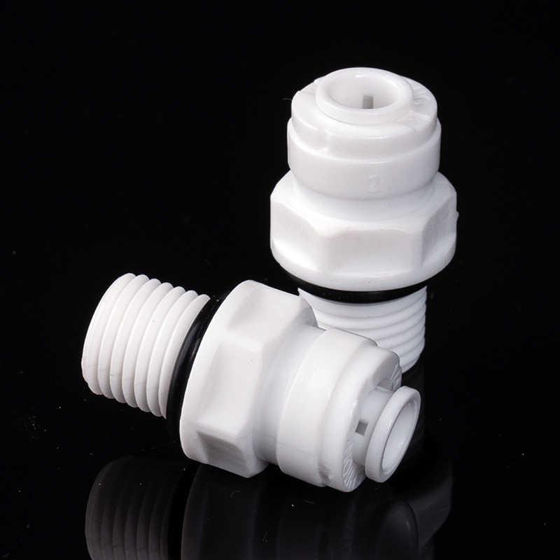 """1/4 """"erkek konu-1/4"""" OD tüp polietilen boru bağlantı düz hızlı bağlantı sızdırmazlık halkası akvaryum RO su filtresi ters osmoz"""