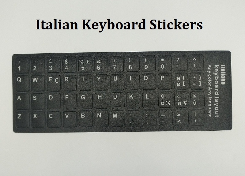 Italian letters keyboard stickers for macbook notebook pc computer