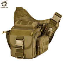лучшая цена Multi-functional DSLR Camera Bag Army Messenger Men Handbag Casual Saddle Camouflage Shoulder Bags High Quality Nylon Pack