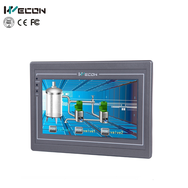 Wecon Tela de Toque HMI com Ethernet de 7 polegada