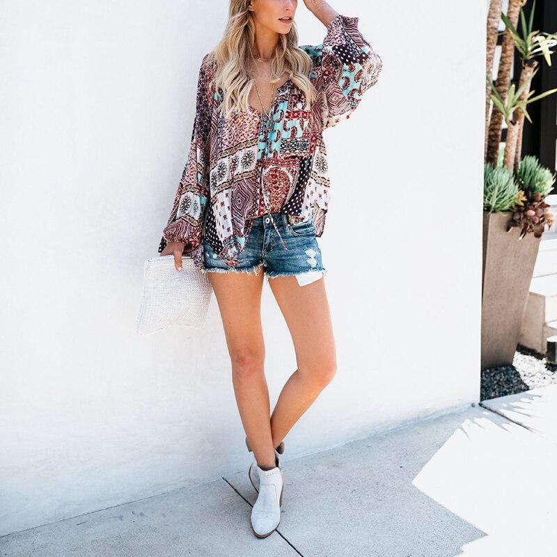 3030741c6 Aliexpress.com : Buy Women Floral Loose Chiffon Blouse Vintage Kimono  Cardigan Boho Chiffon Coat Women Short Sleeve Printed Shirts from Reliable  Blouses ...