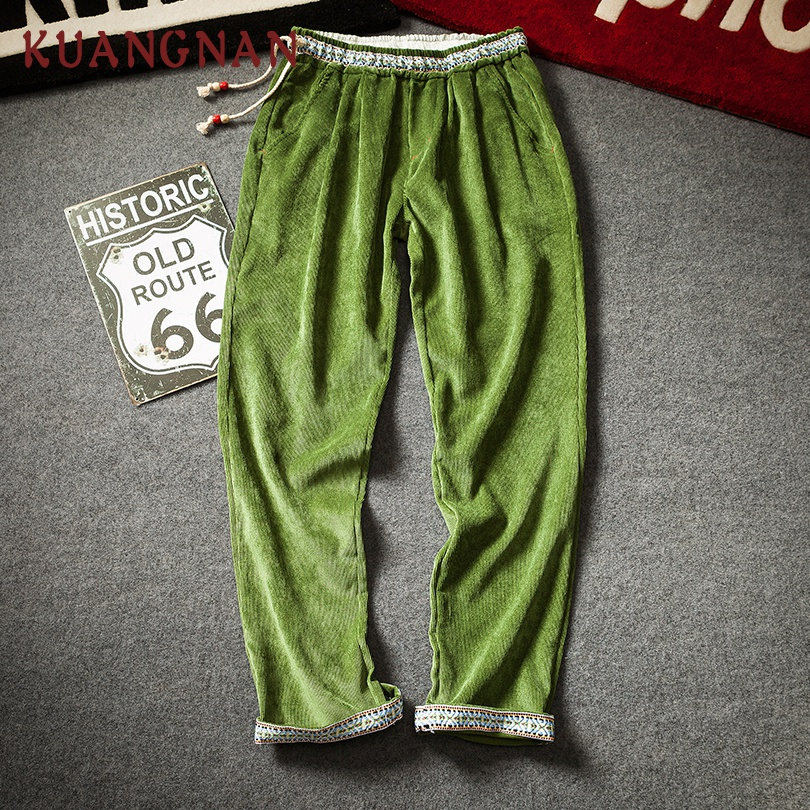 KUANGNAN Trousers Men Pants Japanese Streetwear New Hip-Hop