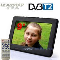 Free Shipping Televisions 9 Inch TFT LCD Color DVB T2 Portable TV With Wide View Angle