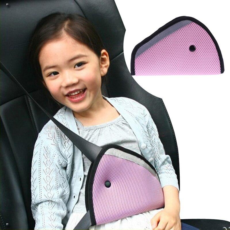 triangle baby kid car safe fit seat belt adjuster car safety belt adjust device child neck protection positioner breathable
