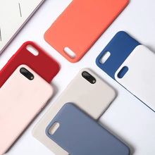 Simple Solid Color Ultrathin Soft TPU Case Candy Back Cover Phone For iPhone 7 6 6s 8 X Plus XR XS Max
