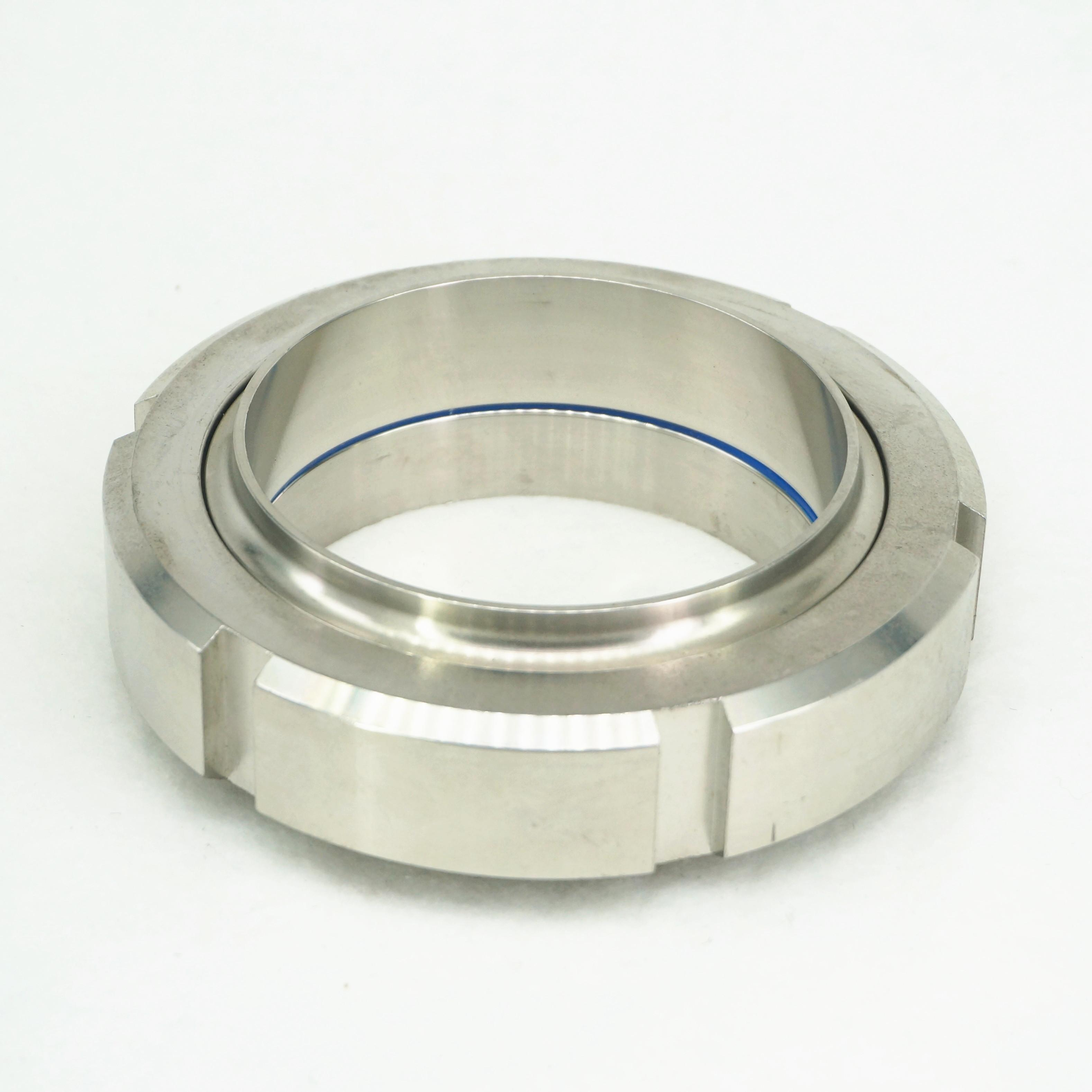 DN100 304 Stainless Steel Sanitary DIN Weld On Socket Union Set Pipe fitting new 48mm tee 3 way stainless steel 304 butt weld pipe fitting ss304