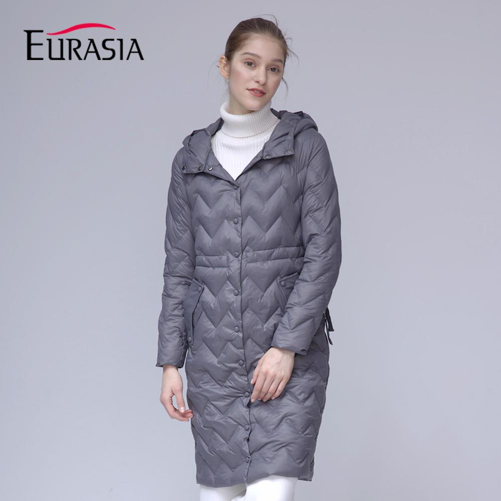 Nouvelle Printemps Femmes Collection Parka Veste Designer Eurasie Mince Gray Manteau Coton Md1837 light pink Chaud Green De Automne 2018 iOTkZuPX