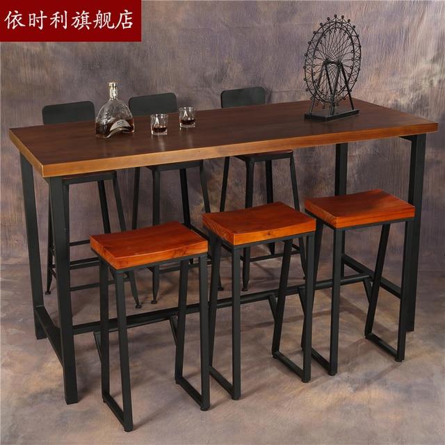 Customized Style Table High Bar Tables Starbucks Loft American Iron Retro Cafe Furniture